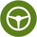 car, driver, handling, rudder icon