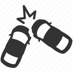 accident, butt, car crash, cars, chaotic, hit, smash icon