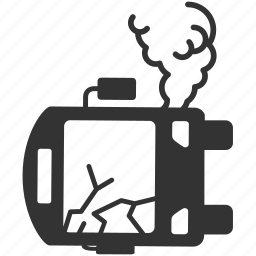 accident, bus, capsize, car crash, crash, overturn, upside down icon
