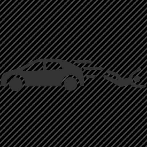 car accident, car crash, collision, escape, hit and run, smash, strike icon
