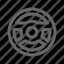 car, dashboard, steering, steering wheel, wheel icon