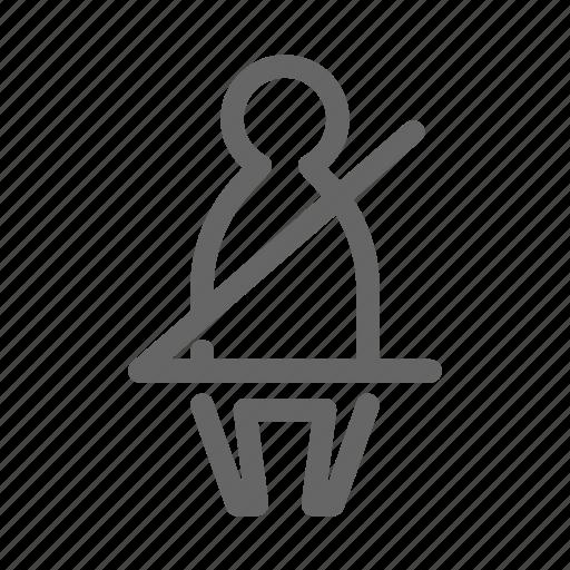 car, dashboard, safety belt, seatbelt, warning icon