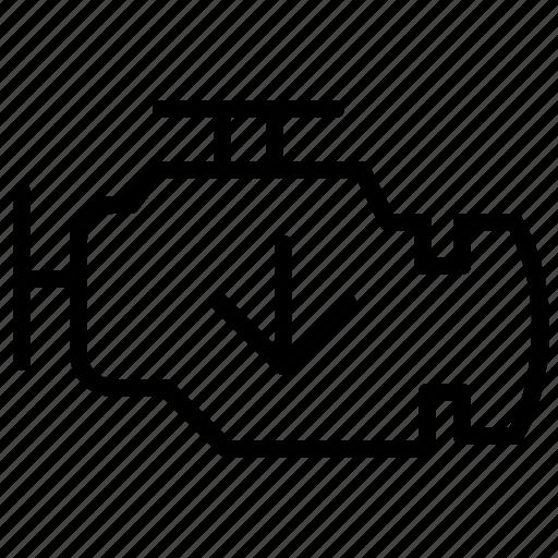 Engine, level, car, motor, oil level icon - Download on Iconfinder