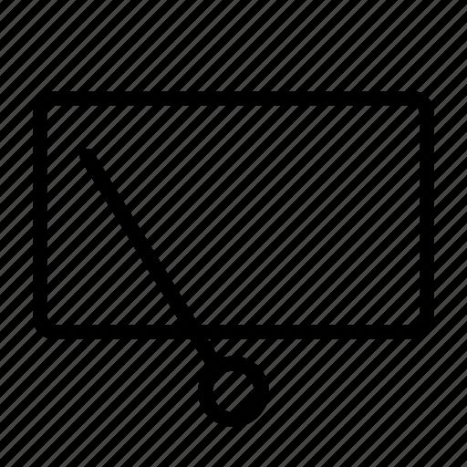 Rear, window, wiper, rear window, wipe, car icon - Download on Iconfinder