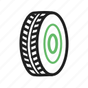 car, rubber, tyre, vehicle, wheel icon