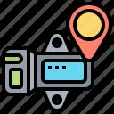 device, gps, map, sensor, location icon