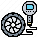 pump, tire, air, service, pressure icon