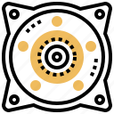 bearings, component, gear, spare, wheel icon