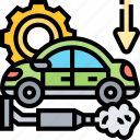 pipe, exhaust, combustion, smoke, pollution icon