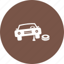 car, change, jack, mechanic, repair, tyre, wheel icon