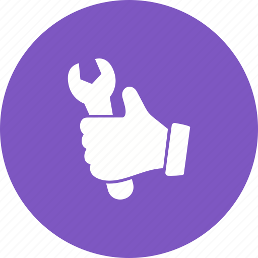 adjustable, glove, hand, tool, work, worker, wrench icon