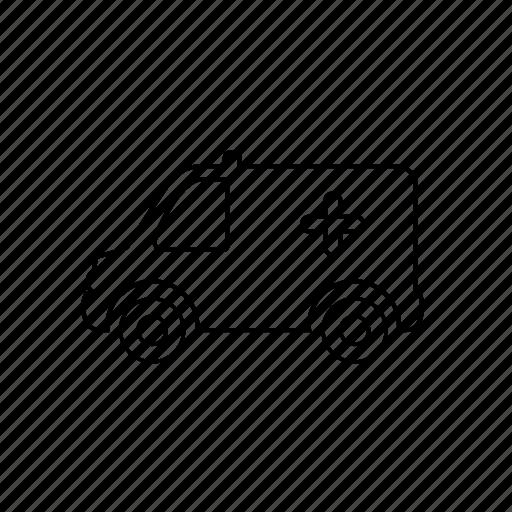 ambulance, car, hospital, shipping, taxi, transport, vehicle icon
