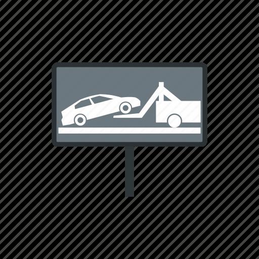 cars, evacuation, help, impound, service, traffic, yard icon