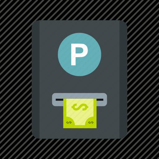 car, coin, fees, meter, parking, street, urban icon