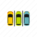 area, park, parking, place, transport, transportation, vehicle icon