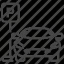 car, park, parking, transport, transportation, vehicle icon