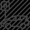 car, park, parking, vehicle icon