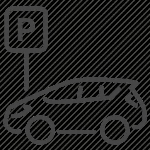 Car, park, parking, vehicle icon - Download on Iconfinder