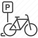 bicycle, bike, cycling, park, parking