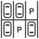 car, park, parking, parking lot, slot, transportation icon