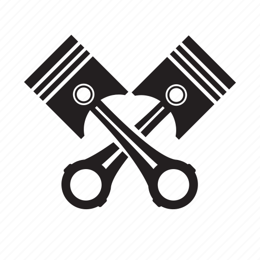 cross, engine, piston, shape, sign icon