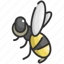 animal, animals, bee, fly, insect, nature, wings icon