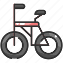 bicycle, bike, cycling, exercise, sports, vehicle icon