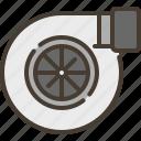 turbo, engine, power, car, turbine