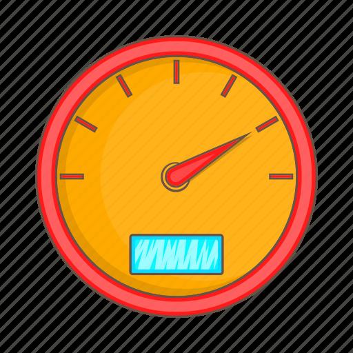 car, cartoon, meter, power, sign, speed, speedometer icon