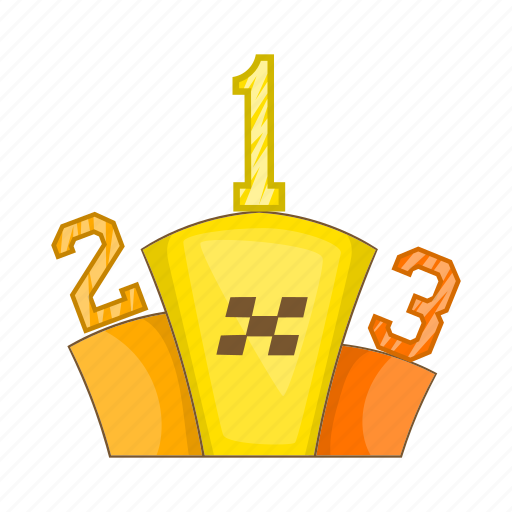 award, cartoon, competition, pedestal, prize, sign, success icon