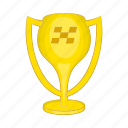 cartoon, competition, cup, first, place, sign, success icon