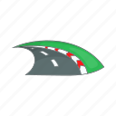 cartoon, road, sign, speed, speedway, transportation, way icon