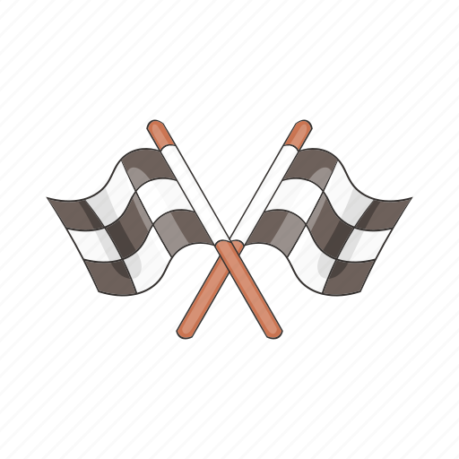 cartoon, flags, race, racing, sign, speed, sport icon