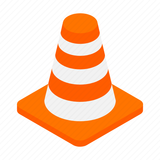 cone, construction, isometric, road, safety, street, traffic icon