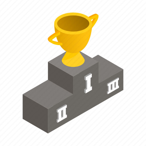 champion, cup, first, gold, isometric, sport, winner icon