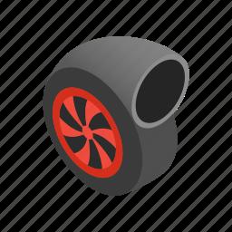 engine, isometric, performance, turbine, turbo, turbocharger, vehicle icon