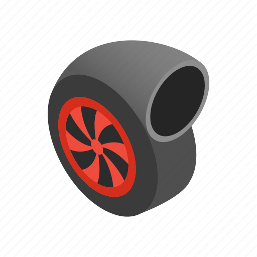 engine, isometric, performance, turbine, turbo, turbocharger, vehicle icon