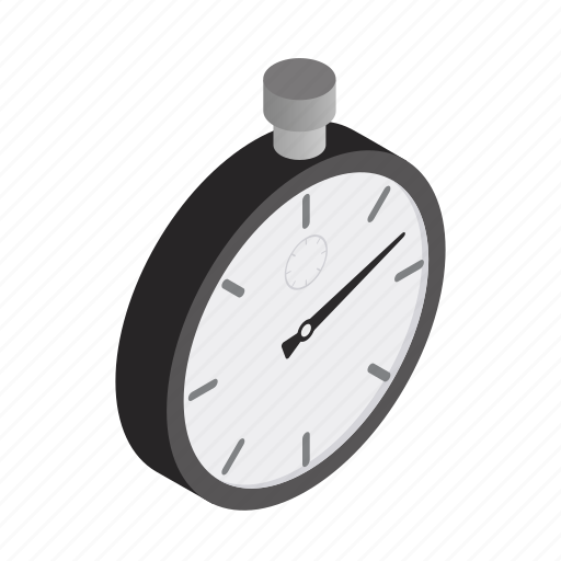 isometric, minute, speed, sport, stopwatch, time, timer icon