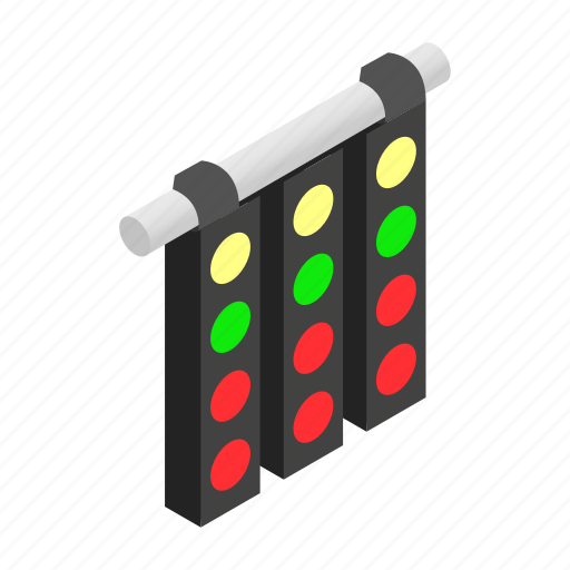 formula, isometric, light, line, race, sport, traffic icon