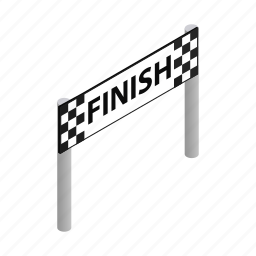 champion, finish, formula, isometric, road, speed, sport icon