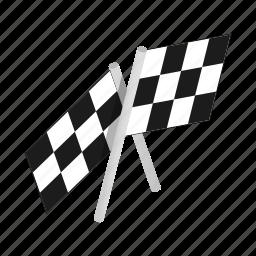 flag, isometric, race, sport, success, victory, winner icon
