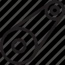 auto, automobile, car, timing belt, transport, transportation, vehicle icon