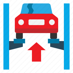 auto, car, garage, lift, repair, service icon