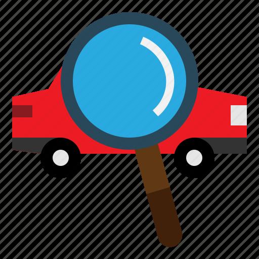 car, search, transportation, view icon