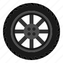 car, tire, wheel icon