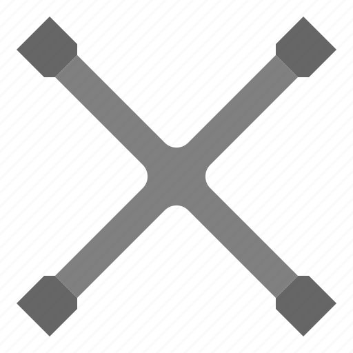 Cross, garage, tool, universal, wheel, wrench icon - Download on Iconfinder