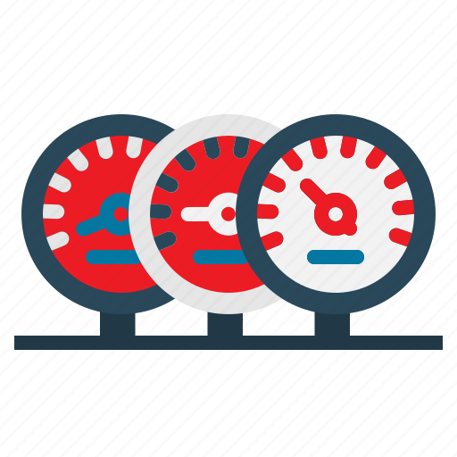 dashboard, odometer, panel, speedometer, tachometer icon