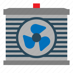 air, car, fan, part, rediator icon
