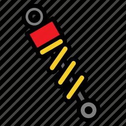 absorber, auto, car, part, shock, suspension icon