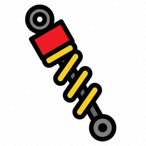 absorber, auto, car, part, shock, suspension icon